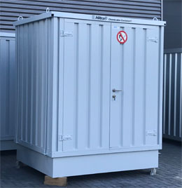 Hiltra® Chemicaliëncontainer model CC-MB 1-1100-T (56789)> Nieuw, magazijnopruiming